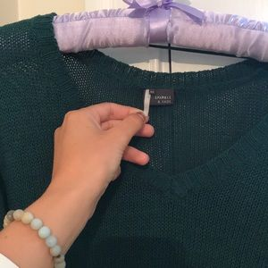 Forest green sweater from Urban Outfitters